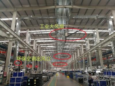 冷风机+工业大风扇(扇机互补)厂房降温方案